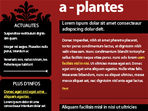 maquette email plantes